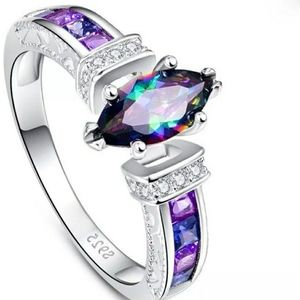 🆕️💍Gorgeous Mystic Topaz ring sterling silver